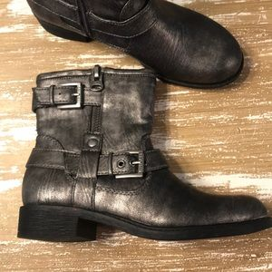 Metallic Moto Boots By Guess Sz. 6.5